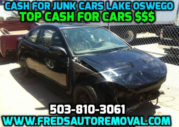 cash for junk cars lake oswego or we buy cars fred 39 s auto removal cash for junk cars portland. Black Bedroom Furniture Sets. Home Design Ideas