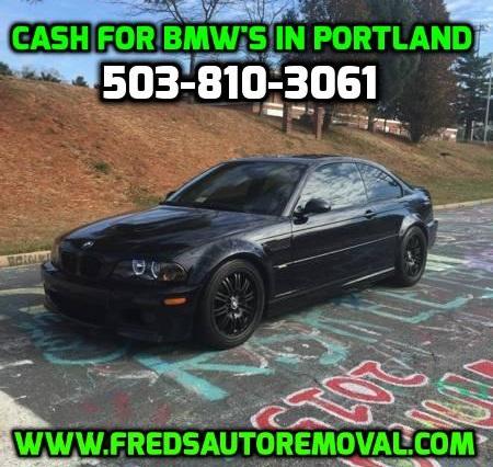 Sell my BMW portland we buy BMW portland cash paid for bmw portland