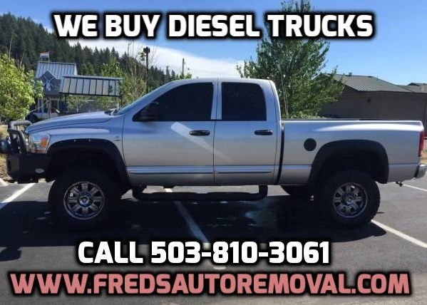 We Buy Diesel Trucks Portland Sell My diesel Truck Portland Cash for Diesel Trucks Portland