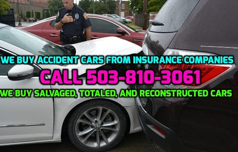 cash for insurance accident salvaged wrecked totaled reconstructed cars trucks vans cash for cars